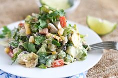 Southwest Chicken Chopped Salad from Pioneer Woman blog page