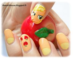 little pony nail art ~ Applejack