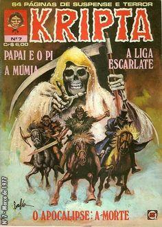 Revista Kripta #7 - RGE (1976) - Quadrinhos de terror, suspense, ficção e sobrenatural