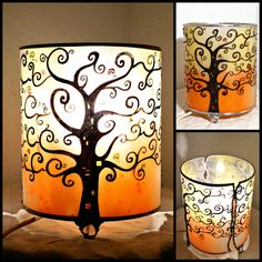 "Lampe artisanale  poser multicolore "" Bonsa¯ """