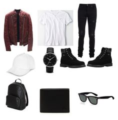 """""""Untitled #14"""" by tomasi-nasau on Polyvore featuring Balmain, American Eagle Outfitters, Lugz, JayWalker, Gucci, Lacoste, Ray-Ban, AMIRI, men's fashion and menswear"""