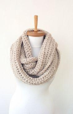 PRESEASON SALE - Chunky infinity scarf, wool crochet infinity scarf, knitted scarf, crochet infinity scarves, gift ideas, mens's scarves by StyleScarf on Etsy https://www.etsy.com/listing/200103624/preseason-sale-chunky-infinity-scarf
