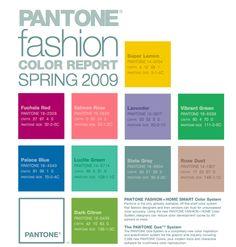 Pantone Color Report Spring 2009