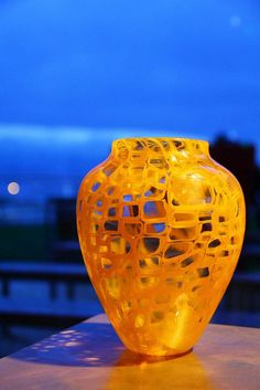 HGS Celebrity Equinox by Annette Sheppard - Orange Squares by Corning Museum of Glass, via Flickr