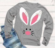 Easter svg, rabbit svg, Bunny svg, Kids easter svg, Easter Bunny, SVG, DXF, EPS, easter cut file, rabbit svg, iron on, bunny shirt, cut Welcome to shorts and Lemons! Make these cute shirts for your shop, family or friends with this easy to print or cut design. Free font info for name