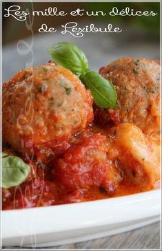 les milles & un délices de ~lexibule~: ~Boulettes de veau, sauce aux tomates braisées~