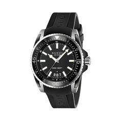 Relógio Gucci Masculino Borracha Preta - YA136204