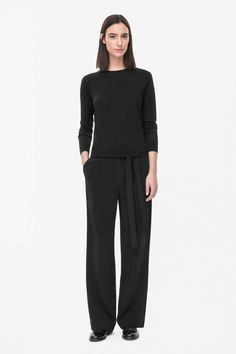 Tie-waist trousers