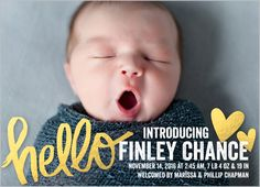 Order Shutterfly baby announcements, have addresses ready
