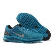 Nike Air Max 2013 hombres zapatillas deportivas Azul/Plata airmaxsaleonlinespain.com