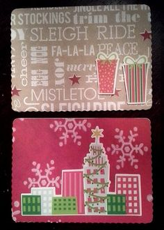 Multi pack of handmade Christmas/Holiday by HighlandPoppyCards, $9.00