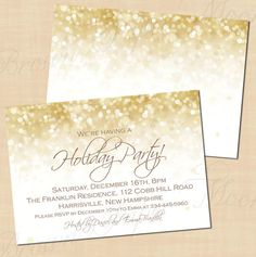 White Gold Sparkles Editable Christmas Holiday by BrownPaperMoon, $16.00