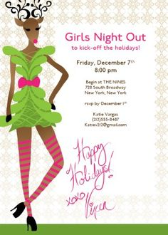 Invitations Christmas Girls' Night Out | girls at play | Pinterest ...