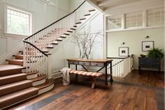 Wide Plank Floors. Foyer Wide Plank Floors. Wide Plank Floors in Foyer. #WidePlankFloors #Foyer Wade Weissmann Architecture.