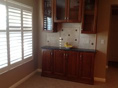 Shutters and Buffet added to kitchen