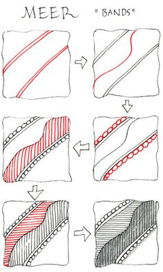 Zentangle   [These are the instructions that teach you how to draw the designs.  You use these designs laid out like you would like them too.  I going to put up several instruction pages.  Practice them, then draw a Zentangle.  If you are like me, your gonna love this art form and want to do it.  I suggest to type Zyntangle and check out the certified instructor pages.