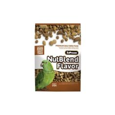 Let' go nuts! Zupreem NutBlend Flavor Premium Daily Bird Food is sure to be a crunchy favorite with your pet...