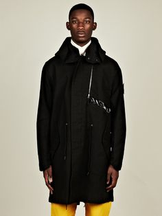 Stone Island Shadow Project Men's Fishtail Parka in black at oki-ni