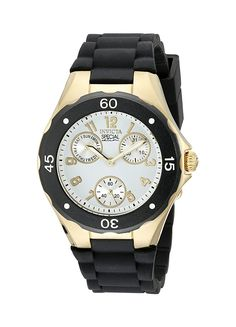 Invicta Angel Multi-Function Light Dial Black Silicone Ladies Watch 18797 >>> You can get more details by clicking on the image.
