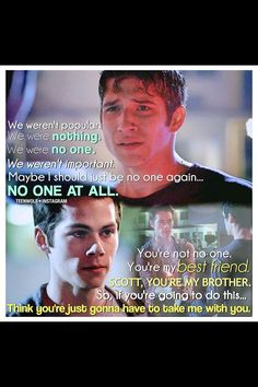 Scott and Stiles. My favorite Teen Wolf scene! <3 <3 <3