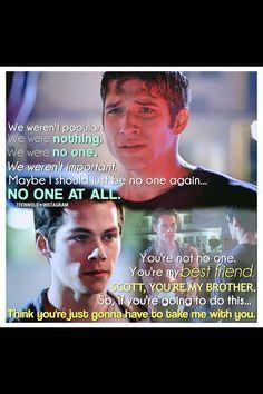 Scott and Stiles. My favorite Teen Wolf scene! <3 <3 <3