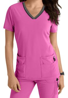 Lynx Untamed ... break free from ordinary scrubs! This collection offers VersaTec 4-way stretch material that provides movement at the stress points (back yoke and armholes) to give you additional mobility.