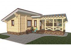 Баня с беседкой под одной крышей – проекты + строительство своими руками!