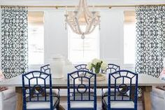 Image result for dining room armchair navy blue tufted
