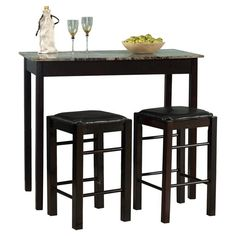 dining set table upholstered stools kitchen pub bar home bistro