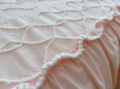 Martex Cabin Craft Pink White Skirted by SnowyCreekDesigns on Etsy, $129.00