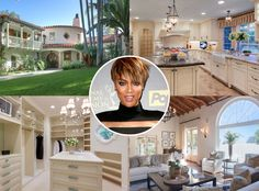 Tyra Banks from Celebrity Mega Mansions Celebrity Mansions, Celebrity Houses, Millionaire Homes, Banks House, Big Mansions, Beverly Hills Mansion, Rich Home, Tyra Banks, Big Houses
