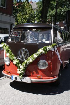 Decoration for wedding car - Autoschmuck Hochzeit