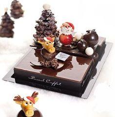 Ars Chocolatum Chocolate Work, Chocolate Lovers, Chocolate Recipes, Gourmet Desserts, Plated Desserts, Christmas Desserts, Christmas Treats, Pascal Caffet, Chocolates