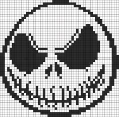 Nightmare Before Christmas Jack Skellington perler  bead pattern