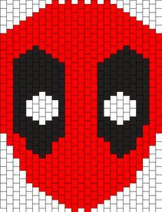 DeadPool Full Face Mask Kandi Pattern