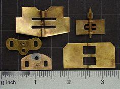 Antique clock parts brass sheet metal by SteampunkArtSupplies