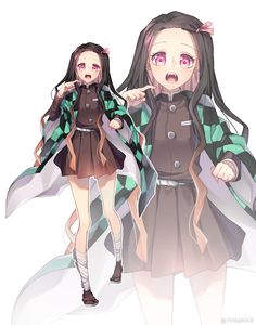 Character: Nezuko Kamado Anime: Kitmesu no yaiba Ilustrator:¿? Otaku Anime, Art Anime, Anime Art Girl, Anime Chibi, Manga Girl, Demon Slayer, Slayer Anime, Anime Angel, Anime Demon