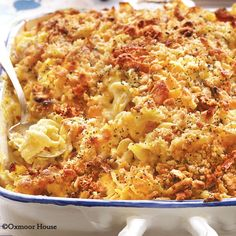 Cheesy Chicken Casserole - a creamy, cheesy casserole that's perfect for potlucks and family dinners!