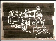 Def not a train, but good idea Pallet Home Decor, Pallet Crafts, Pallet Art, Diy Wood Projects, Wood Crafts, Pallet Ideas, Diy Pallet, Kid Projects, Pallet Furniture