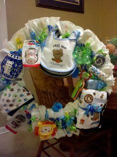 Jen's Baby Boy Wreath 2