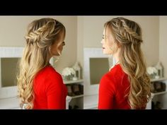 Dutch Fishtail Braids Holiday Hairstyle | Missy Sue - YouTube