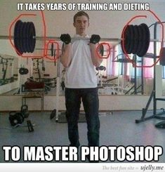 Photoshop fail... Look in the mirror behind him....