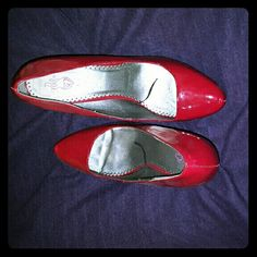 Patent Red Pumps from Torrid Fairly new. Worn once. Size 13. Add a fashionable and posh statement with these patent pumps. 4 1/2 inch heel. #redpumps #Torrid #size13 torrid Shoes Heels