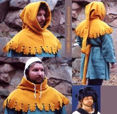 Dagged Hood photo by AccountAi Medieval Fashion, Medieval Clothing, Historical Costume, Historical Clothing, Renaissance, Larp, Mens Garb, Medieval Hairstyles, Landsknecht