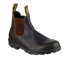 Blundstone 500 Mens Pull On Classic Dealer Work Boot is part of our Mens Workwear & Safety Footwear range. This particular item is being shown in Brown 10 and is just one of many styles in our Blundstone collection. Leather Clogs, Leather Slip Ons, Thick Leather, Brown Leather, Blundstone Mens, Rugged Style, Brown Boots, Rubber Rain Boots, Chelsea Boots