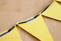 Pennant Banner - how to use ribbon as the string
