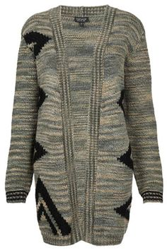 Knitted Aztec Slouchy Cardigan