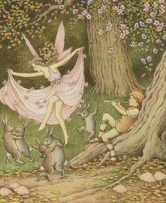 Pretty Art, Cute Art, Vintage Fairies, Photocollage, Fairytale Art, Forest Fairy, Fairy Art, Mellow Yellow, Aesthetic Art