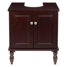 SinkWrap 25 in. W x 20 in. D Vanity Cabinet Only for Pedestal Sinks in Espresso-LPV-25RP-RLES at The Home Depot