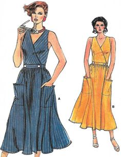 Wrap Dress Very Easy Vogue Pattern 9276 UNCUT by RetroMarketplace